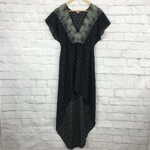 Urban Outfitters Ecote Medium Hi-Lo Dress Black